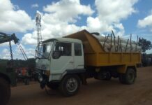 Impounded maize truck