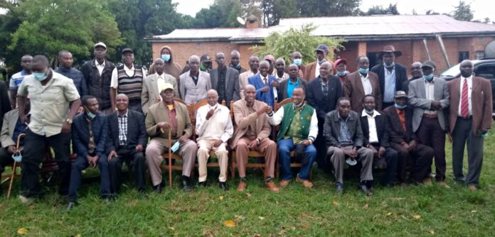 Saboat council of elders as they endorsed Kiminini Mp Dr.Chris Wamalwa together with Saboati MCA David Kapoloman