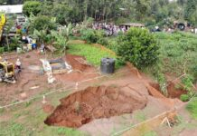 The collapsed gold mine