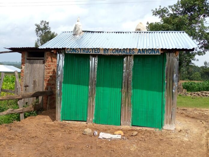 The toilet constructed by Mr. Charles Anyona
