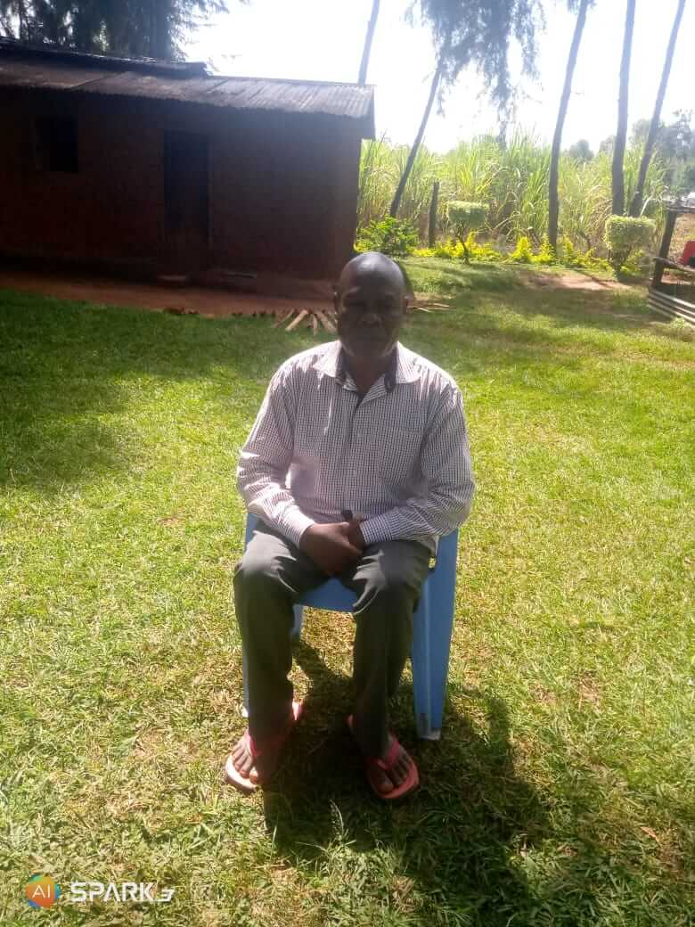 Edward Wanjala father to Denis in his Manafwa home