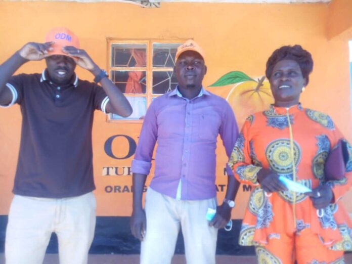 ODM Party women league leader Rodah Katalai with other West Pokot ODM officials