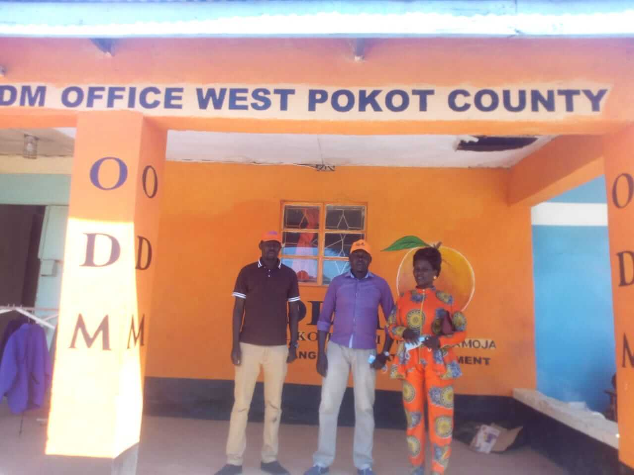 ODM Party women league leader Rodah Katalai with other West Pokot fficials at the party offices