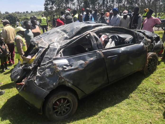 The car that Patrick Matasi was using and got accident