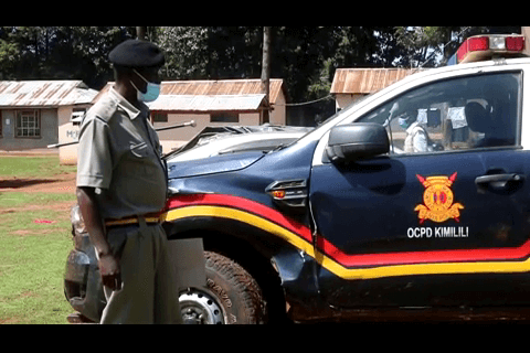 The police car that knocked a business lady in Kimilili