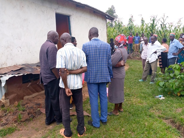 Makutano residents at the compound where the body was found