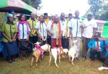 Members who received goats from the group
